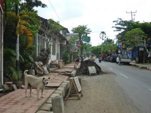 ラヤウブド通りの工事